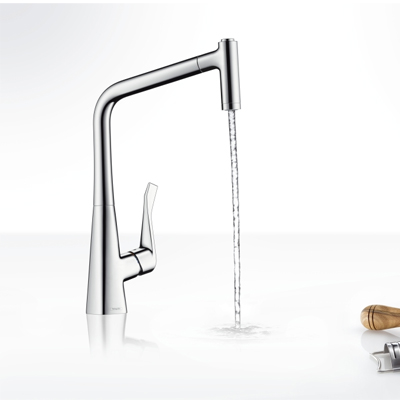 Hansgrohe Metris Single Lever Kitchen Pull Out Spray